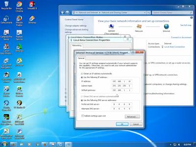 Cara setting IP manual pada windows 7