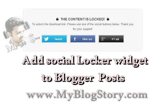 Social Locker widgets for blog blogger