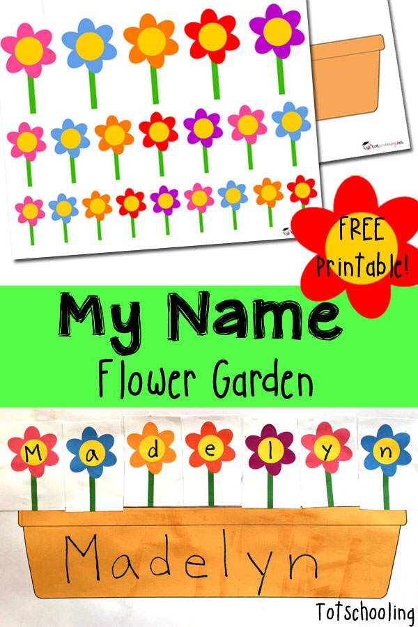 Name Recognition Flower Garden Totschooling Toddler