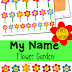 Name Recognition Flower Garden