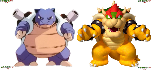 Blastoise King Bowser Koopa side-by-side comparison picture turtle shell
