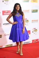 Eesha in Cute Blue Sleevelss Short Frock at Mirchi Music Awards South 2017 ~  Exclusive Celebrities Galleries 073.JPG