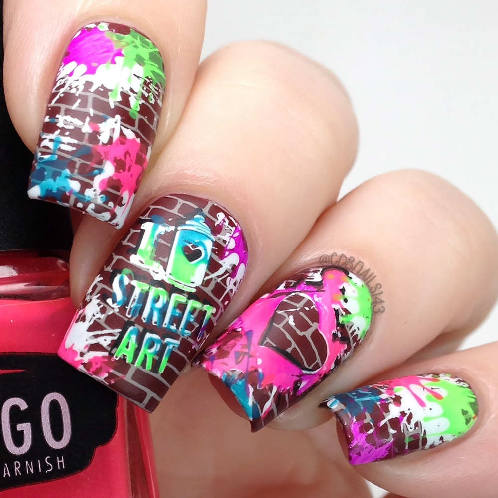 Cdbnails lina nail art make your mark stamping plate lou it yourself nothing else mattersmatte top coat solutioingenieria Image collections