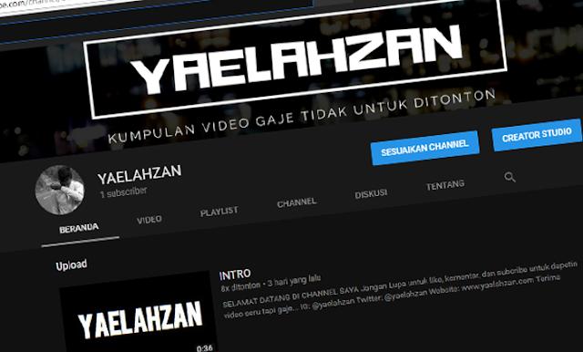 Channel Youtube Yaelahzan