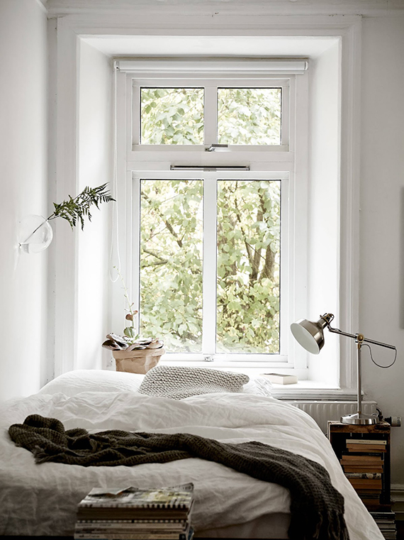 Cozy bedroom via Stadshem