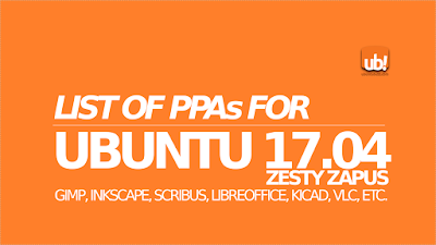 Listado completo de repositorios para Ubuntu 17.04 ZESTY ZAPUS