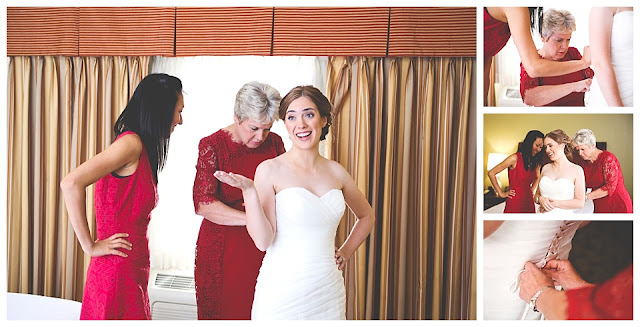 photos of bride preparing for wedding
