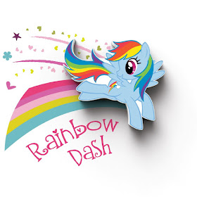 Rainbow Dash Wall Light