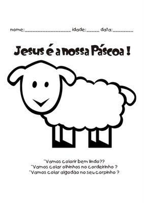 Moldes E Desenhos De Ovelhas De Pascoa Para Colorir Pintar