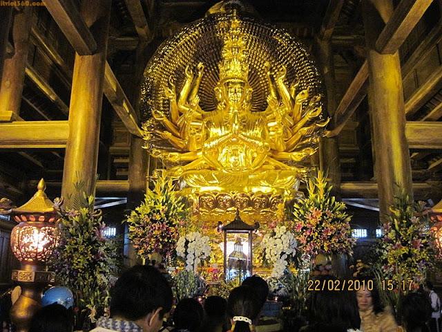 Hình ảnh đẹp về Ninh Bình - danh lam thắng cảnh, Chùa Bái Đính
