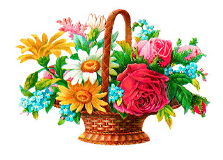 flower basket digital illustration