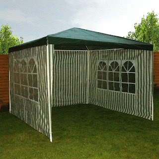 nice gazebo for garden, £29.99, Redstone 4 Sides Gazebo 3 x 3 Metre + 2 sides window