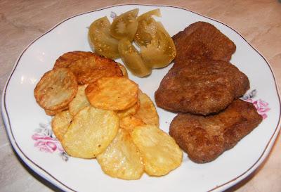 retete de post, soia snitele cu cartofi prajiti si muraturi, retete de mancare, retete culinare, retete cu soia si cartofi,