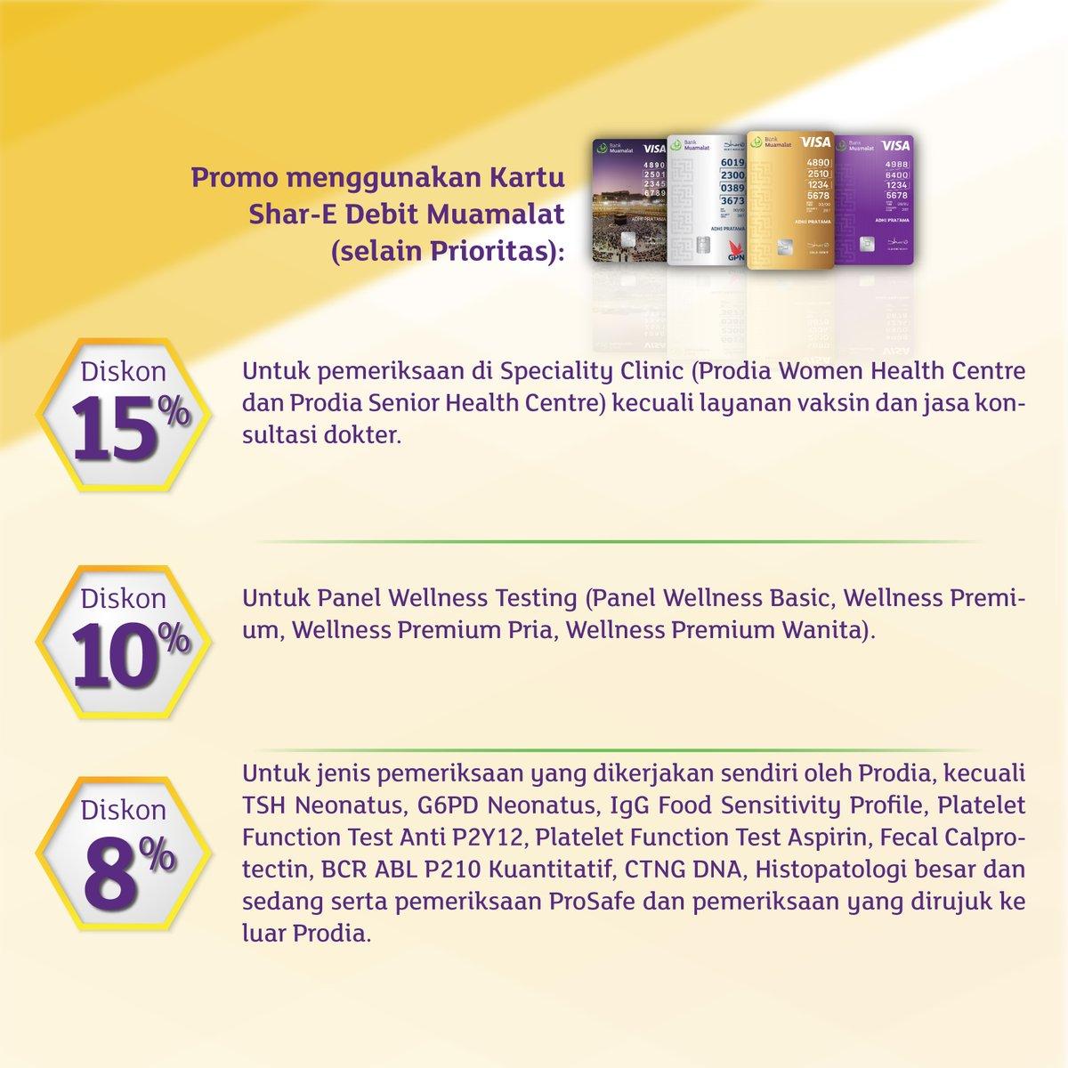 Bank Muamalat - Promo Diskon Mulai 8% Medical Check Up & Laboratorium di Prodia