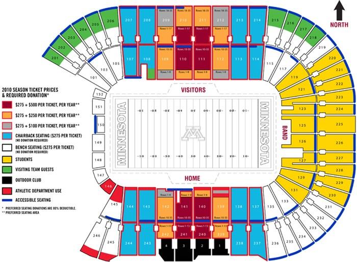 TCF Bank Stadium Seating Chart MLB & Interactive Map SeatGeek - tcf stadium seating chart