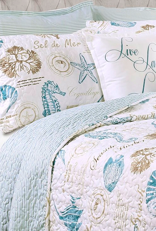 Coastal Ocean Quilt Bedding