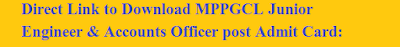 MPPGCL Admit Card-128x90