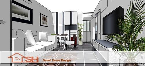 裝修/廚櫃/傢俬/卓形設計Smart Home Design: 公屋裝修-沙田沙角邨雲雀樓室內設計裝修