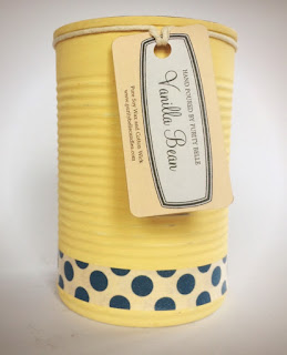 Soy Candle Upcycled Tin in yellow