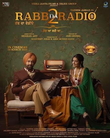 Poster Of Pollywood Movie Rabb Da Radio 2 2019 300MB PdvdRip 480P Full Punjabi Movie