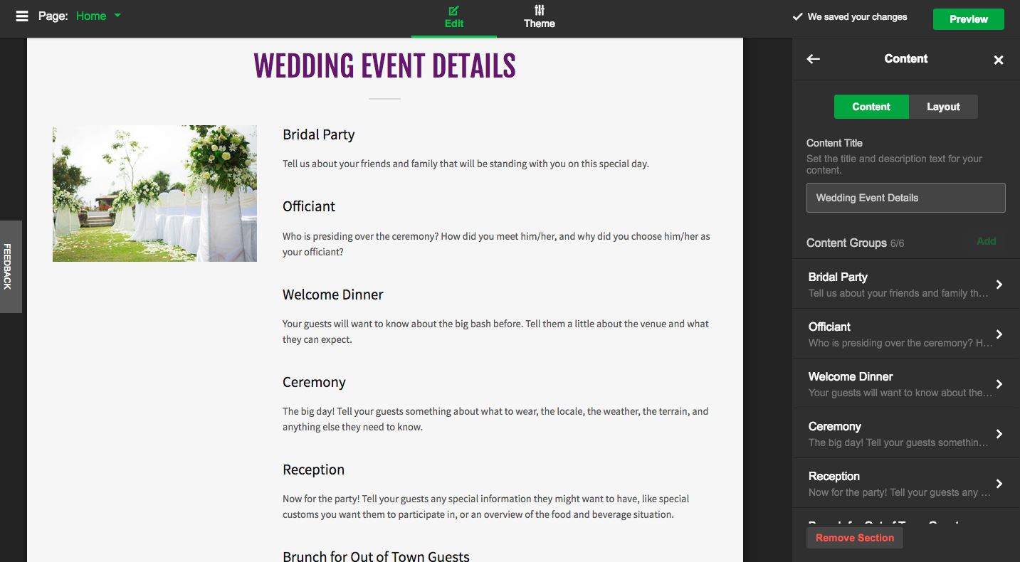 Getting Married? Keep Your Guests Informed with Your Wedding Website!