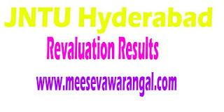 JNTU Hyderabad B.Tech 3rd Year 2nd Sem Revaluation Results