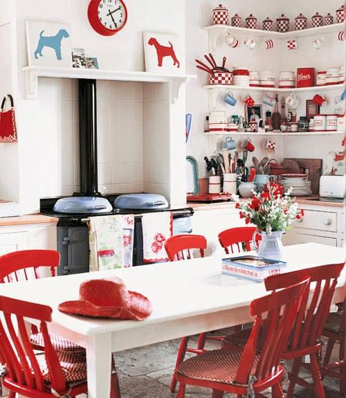 Cocinas color rojo y blanco colores en casa for Cocinas para barcos
