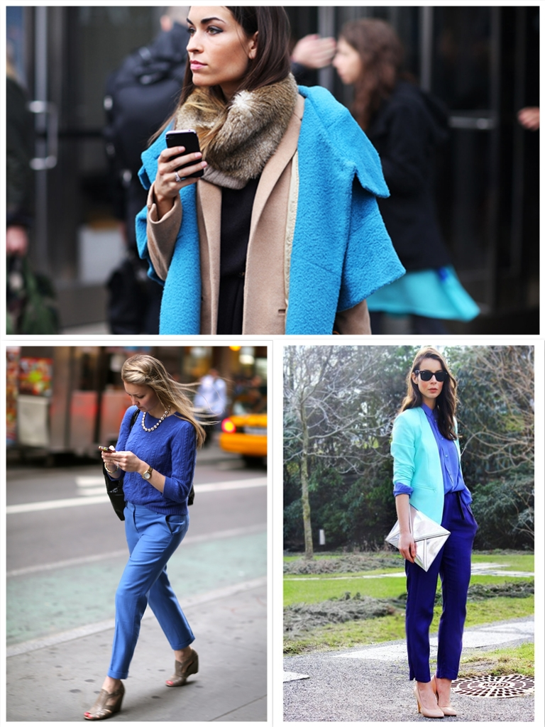 collage tendencia azul klein