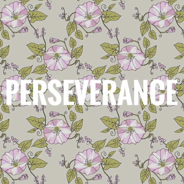 Perseverance Surface Pattern Design by Thistle Thicket Studio. www.thistlethicketstudio.com