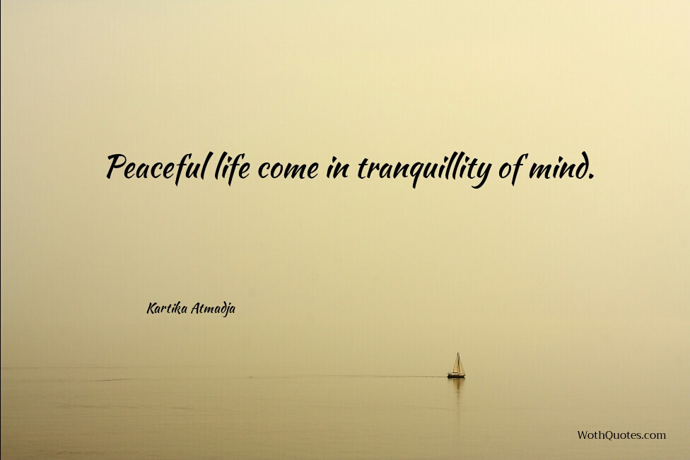 Serenity Quotes. Peaceful Life Come In Tranquillity Of Mind.
