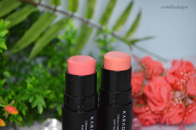 KARADIUM Cream Cheek Stick #2 Warm Coral & #4 Soft Peach