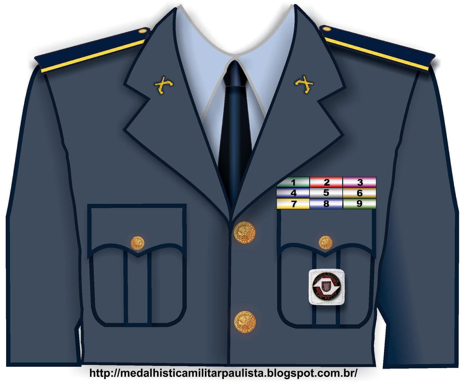 c75839a8e Em todas as Corporações as medalhas devem obedecer a uma ordem de  precedência na sua distribuição no uniforme de acordo com sua importância.