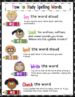 Freebie! How to Study Spelling Words