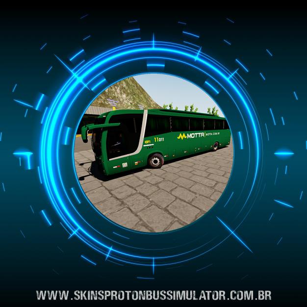 Skin Proton Bus Simulator Road - Busscar Vissta Buss MB O-500 RS BT5 Viação Motta