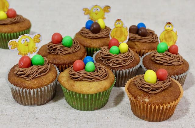 Pascua: Cupcakes de cacahuete y m&m's® (sin gluten y bajo contenido en lactosa)