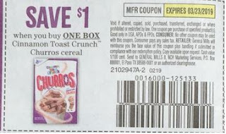 General Mills Cinnamon Toast Crunch Churros Cereal Coupon