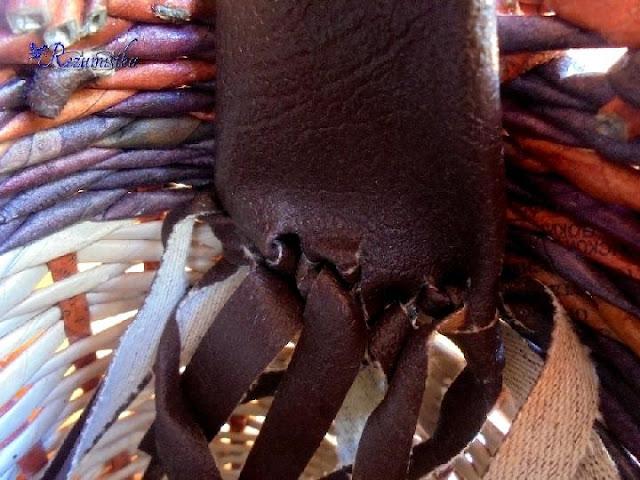 крепление сумки плетеной сумки сафари