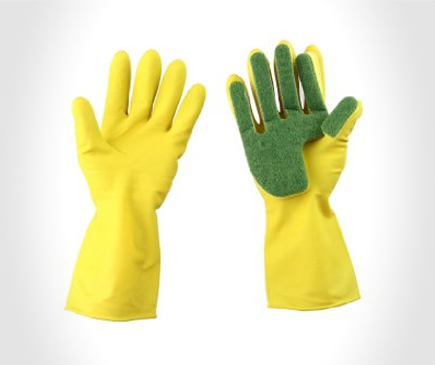 Sponge Tipped Rubber Gloves