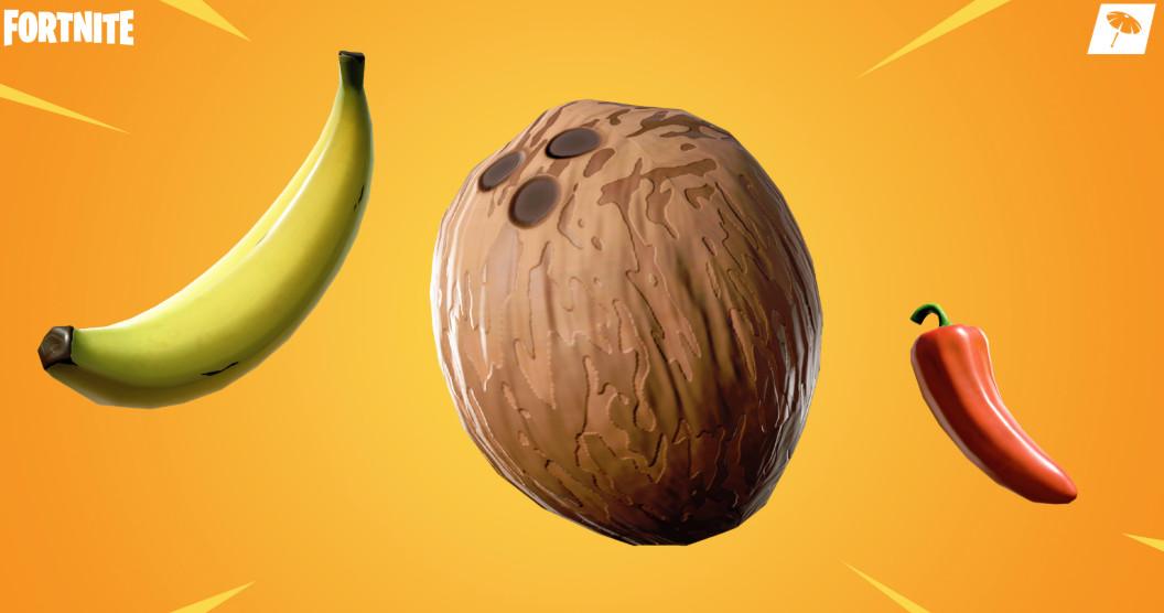 تحديث فورت نايت الجدي الموز جوز الهند الفلفل الحار