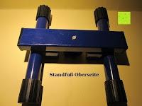 Standfuß Oberseite: as - Schwabe Chip-LED-Akku-Strahler 10 W, geeignet für Außenbereich, Gewerbe, blau, 46971