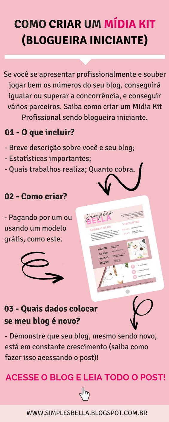 Como criar um Mídia Kit sendo blogueira iniciante