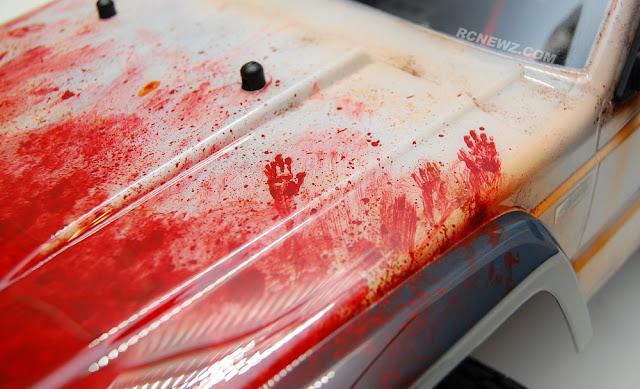 Traxxas TRX-4 bloody hand prints