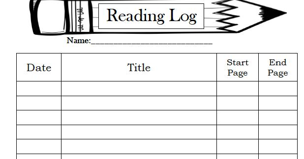 reading log pdf with parent signature