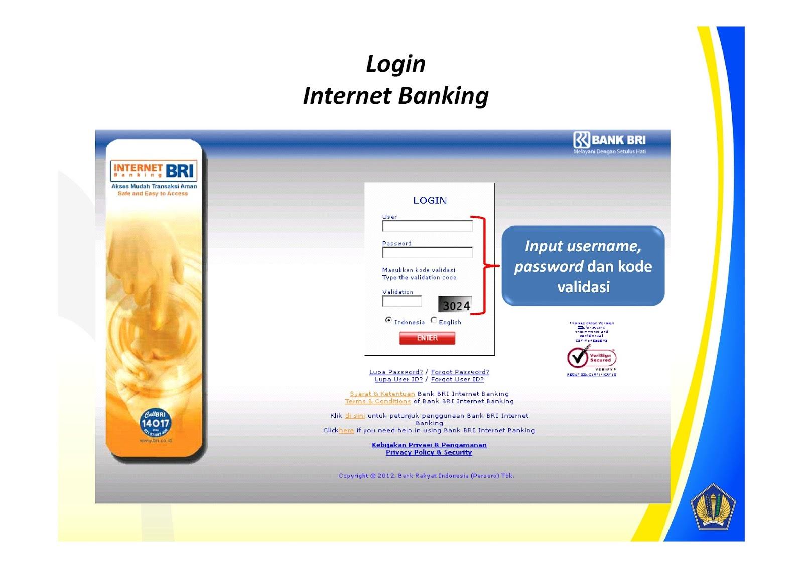 Bayar - ID Billing Internet Banking BRI