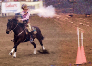 horseback quick draw at the scottsdale rodeo