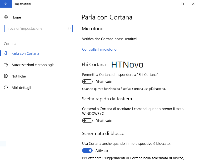 Impostazioni-Cortana