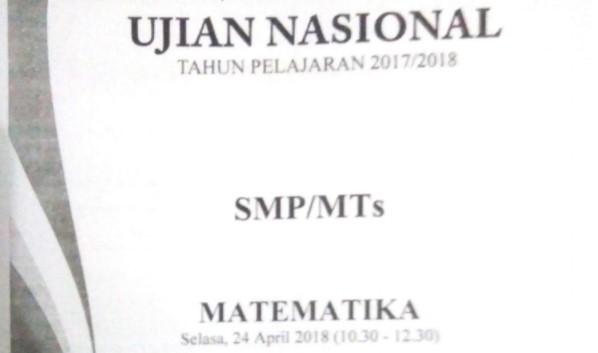 Soal dan Pembahasan UN Matematika 2018