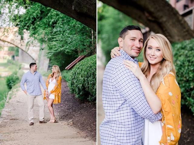 Spring Sunrise Engagement Session at the Georgetown Waterfront photographed by Heather Ryan Photography