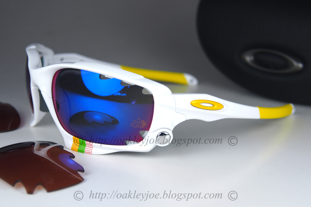 OO9171-26 Racing Jacket Tour De France polished white + positive red  iridium  360 comes with additional black iridium lens lens pre coated with  Oakley ... f066a320f5
