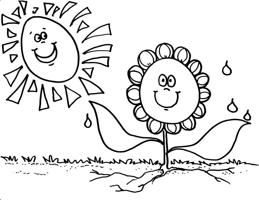 Free Coloring Pages Printable: Sunflower Coloring Pages